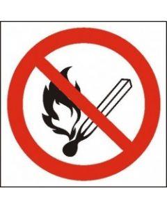 Zakaz używania otwartego ognia i palenia tytoniu