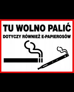 Tu wolno palić dotyczy również e-papierosów