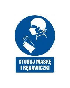 Stosuj maskę i rękawiczki