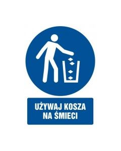 Używaj kosza na śmieci