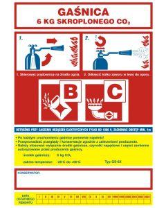 Instrukcja obsługi gaśnicy skroplonego CO2 6kg B C