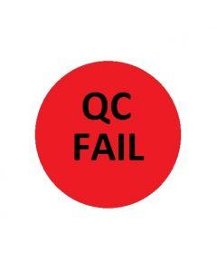 QC FAIL Naklejki kontroli jakości czerwona  fi 10 arkusz 40szt.
