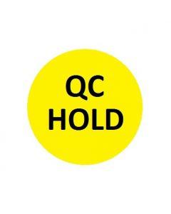QC HOLD Naklejki kontroli jakości żółta fi 10 arkusz 40szt