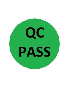 QC Pass Naklejki kontroli jakości zielona fi 10 arkusz 40szt