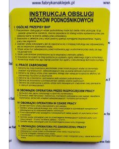 Instrukcja obsługi wózków podnośnikowych