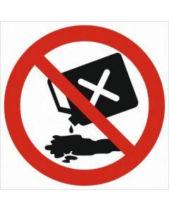 Zakaz wylewania olejów, rozpuszczalników, substancji żrących itp.