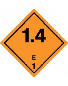 Substancje i przedmioty wybuchowe klasy 1 ( 1.4 grupa E)