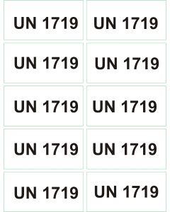 UN 1719 arkusz 1000 sztuk.