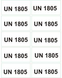UN 1805 arkusz 1000 sztuk.