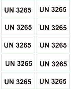 UN 3265 arkusz 1000 sztuk.