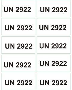 UN 2922 arkusz 1000 sztuk.