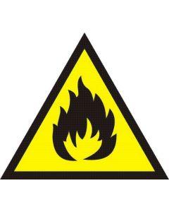 Uwaga materiały łatwo zapalne łatwopalne