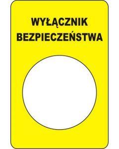 Wyłacznik bezpieczeństwa koloru żółtego 35 x 50mm mm z otworem fi 25mm