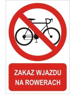 Zakaz wjazdu na rowerach