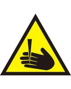 Uwaga groźba obcięcia palców